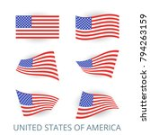 set of icons of the flag of... | Shutterstock .eps vector #794263159