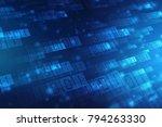 digital abstract technology... | Shutterstock . vector #794263330