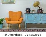 vintage interior of retro... | Shutterstock . vector #794263996