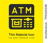 atm bright yellow material...