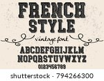 font alphabet script typeface... | Shutterstock .eps vector #794266300
