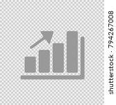 graph increase vector icon eps... | Shutterstock .eps vector #794267008