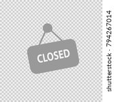 closed sign text vector icon... | Shutterstock .eps vector #794267014