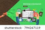 flate design concept promote... | Shutterstock .eps vector #794267119