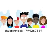 group of smiling teenagers....   Shutterstock .eps vector #794267569