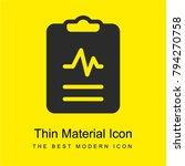 medical bright yellow material...