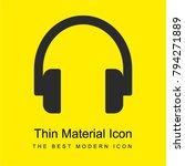 headphone bright yellow...