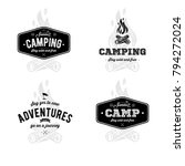 set of vintage camping and...   Shutterstock .eps vector #794272024