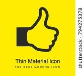 thumb up sign bright yellow...