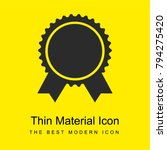 award badge of circular shape...