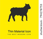 sheep bright yellow material...