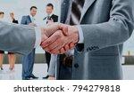 business handshake and business ... | Shutterstock . vector #794279818