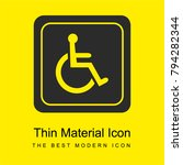 handicapped sign bright yellow... | Shutterstock .eps vector #794282344