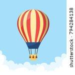 flat hot air balloon | Shutterstock .eps vector #794284138