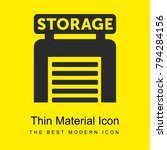 storage bright yellow material...