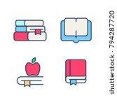 book color icon vector set ....