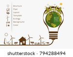 vector illustration of eco... | Shutterstock .eps vector #794288494