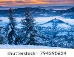 wonderful winter morning in... | Shutterstock . vector #794290624