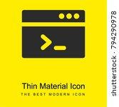 terminal bright yellow material ...