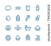 crystal clean water drops ... | Shutterstock .eps vector #794291818