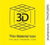 3d printer bright yellow...
