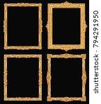 vintage gold ornate square... | Shutterstock .eps vector #794291950