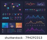 workflow charts and diagrams ... | Shutterstock .eps vector #794292313