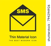 sms letter envelope interface...