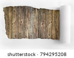 torn paper on the background of ... | Shutterstock . vector #794295208