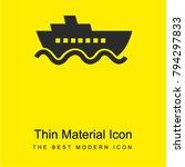 cruise ship bright yellow...