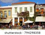 street with cafe restaurants in ...   Shutterstock . vector #794298358