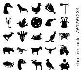 Animal Icons. Set Of 25...
