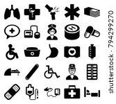 Hospital Icons. Set Of 25...