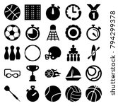 competition icons. set of 25... | Shutterstock .eps vector #794299378