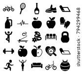 lifestyle icons. set of 25... | Shutterstock .eps vector #794299468