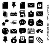 message icons. set of 25... | Shutterstock .eps vector #794299486