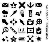 interface icons. set of 25... | Shutterstock .eps vector #794299498