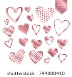 vector collections of rose gold ... | Shutterstock .eps vector #794300410