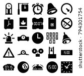 alarm icons. set of 25 editable ... | Shutterstock .eps vector #794301754