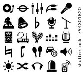 sound icons. set of 25 editable ... | Shutterstock .eps vector #794301820