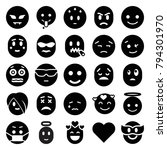 emotion icons. set of 25... | Shutterstock .eps vector #794301970