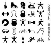 exercise icons. set of 25... | Shutterstock .eps vector #794302000