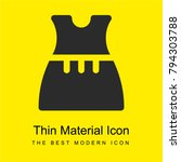 dress bright yellow material...