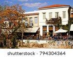 street with cafe restaurants in ...   Shutterstock . vector #794304364
