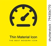 speedometer bright yellow...