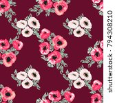 seamless pattern in small cute... | Shutterstock . vector #794308210