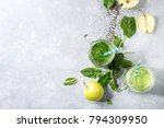 variety of three color green... | Shutterstock . vector #794309950