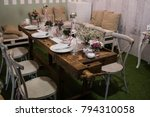 well served table in a... | Shutterstock . vector #794310058