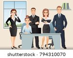 meeting business people.... | Shutterstock .eps vector #794310070