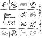 child icons. set of 13 editable ...   Shutterstock .eps vector #794311228